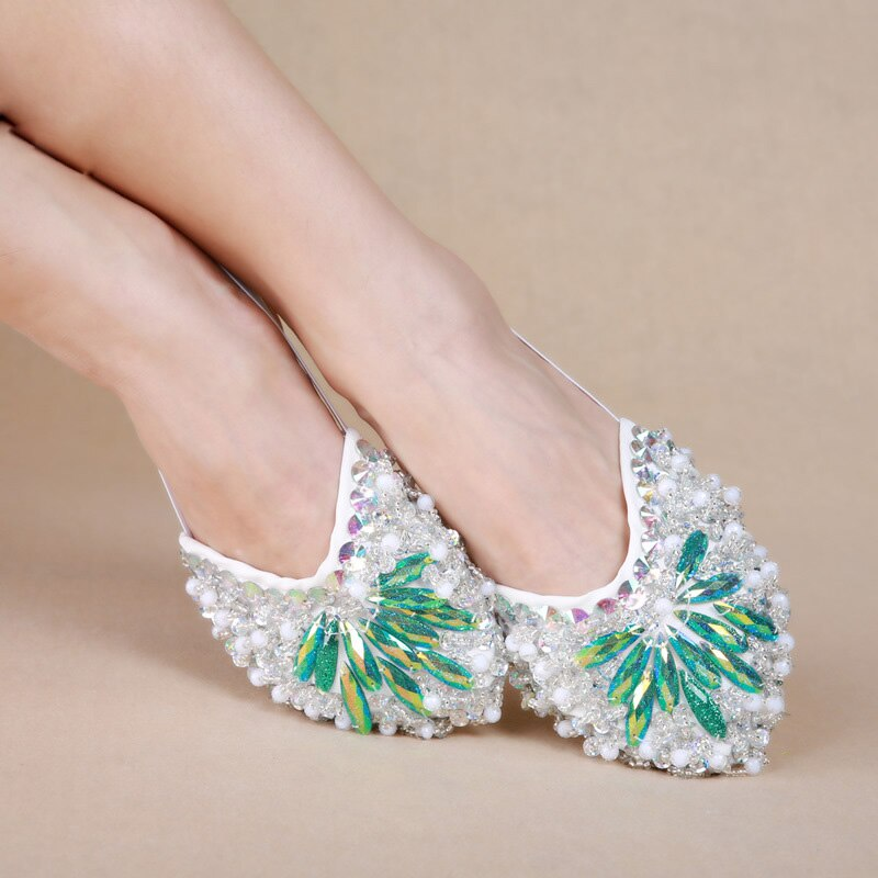 Dancewear Women Ballet Flats Belly Dance Practice Shoes Sequins Shoe Pads