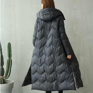 Chinese Parka Women Hooded Long Padded Jacket Winter Thicken Outwear Frog Plus Size Warm Wadded Coat Hcy212