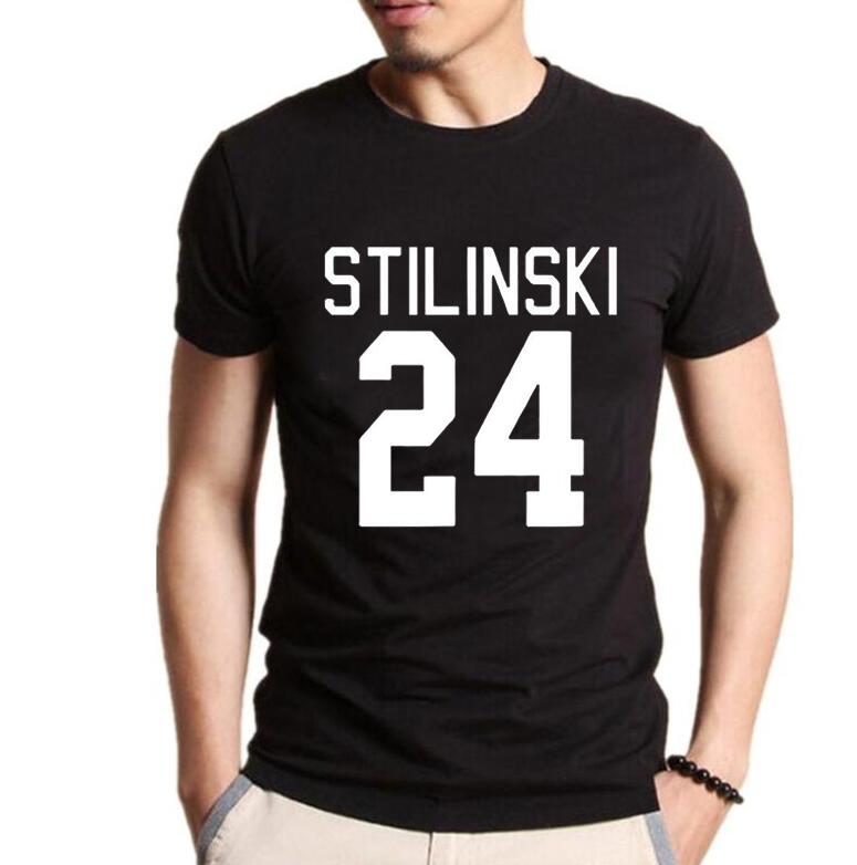 Clothing Tv Show Teen Wolf Stilinski 24 Print Cotton T Shirts Men Short Sleeve O Neck TShirts Casual Streetwear Tops