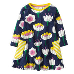 Kids Dresses Robe Fille Dinosaur Party Unicorn Princess Dress Baby Clothes Vestidos Children Clothing Dress