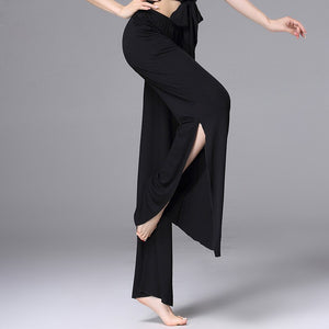 Modal Belly Dance Clothing Women Dancewear Accessories Side Split Flare Trousers Belly Dance Pants