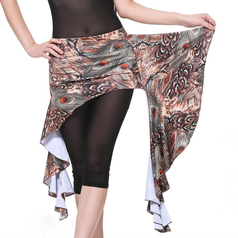 More Colors Women Dancewear Belly Dance Clothing Peacock Pattern Hip Belts Practice Wrapped Skirts