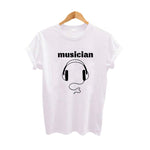Musician TShirt Harajuku Punk Rock Graphic Tee Shirt Women Tumblr Vintage Music T Shirt Black White Cotton Tee Shirt