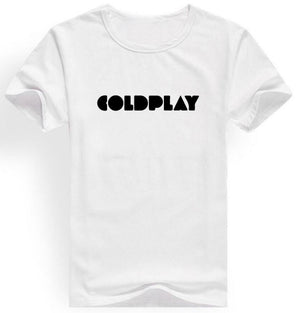 Rock Band Coldplay Printed Men T Shirt Short Sleeve O Neck Cotton Hip Hop Tops Tee Shirt Homme