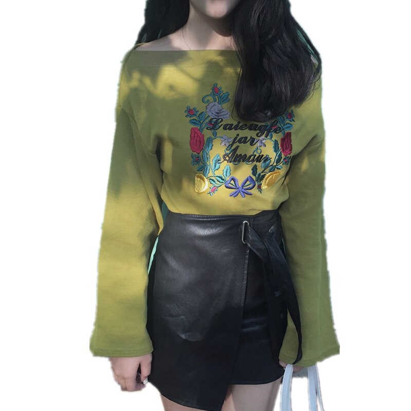 Spring Autumn Women Long Sleeve Hoodies Ladies Retro Embroidery Cotton Sweatshirts Casual Harajuku Pullovers Wq39