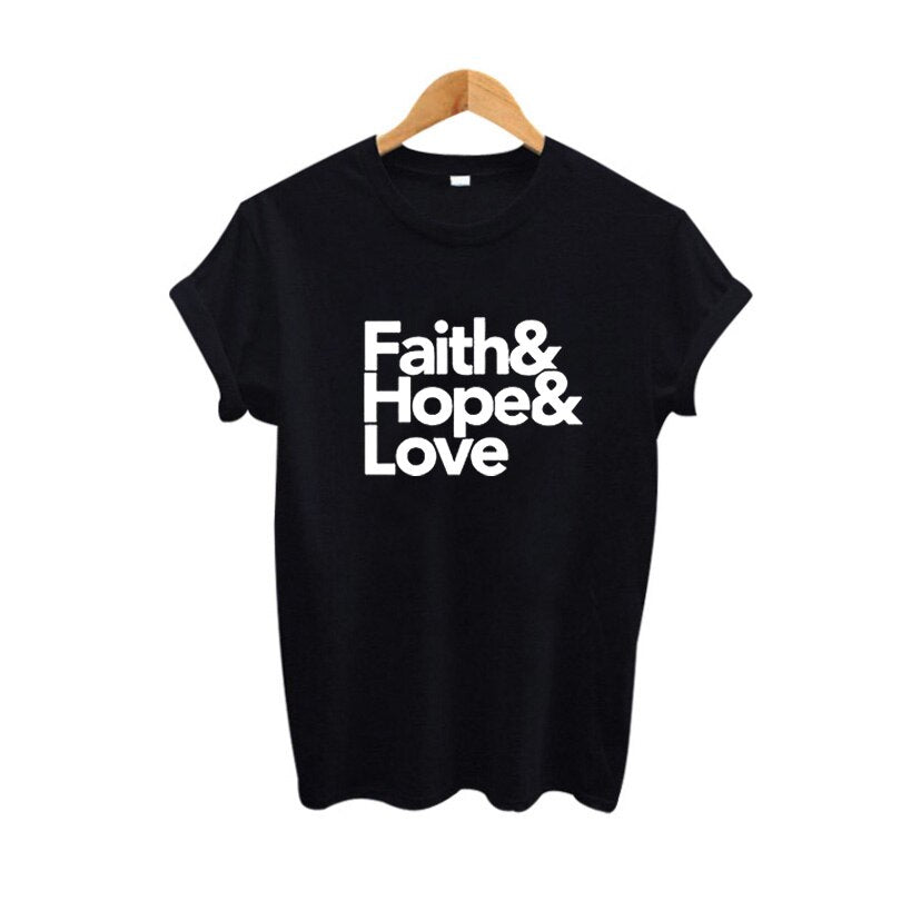 Starsailor Faith Hope Love T Shirt Hipster Clothing T Shirt Women Tops Tee Shirt Femme