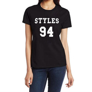 Styles 94 Harry Styles One Direction 1D Music Rock Band Boys Varsity Tumblr Women Tshirt Punk Harajuku Tee Shirt Femme