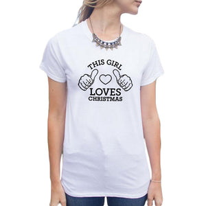 This Loves Christmas TShirt Blogger Funny Slogan T Shirt Women Casual Tee Shirt Black White Tops