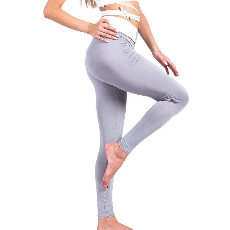 Women Gym Sport Yoga Pants Fitness High Waist Sports Workout Tights Striped Stitching Running Yoga Pants