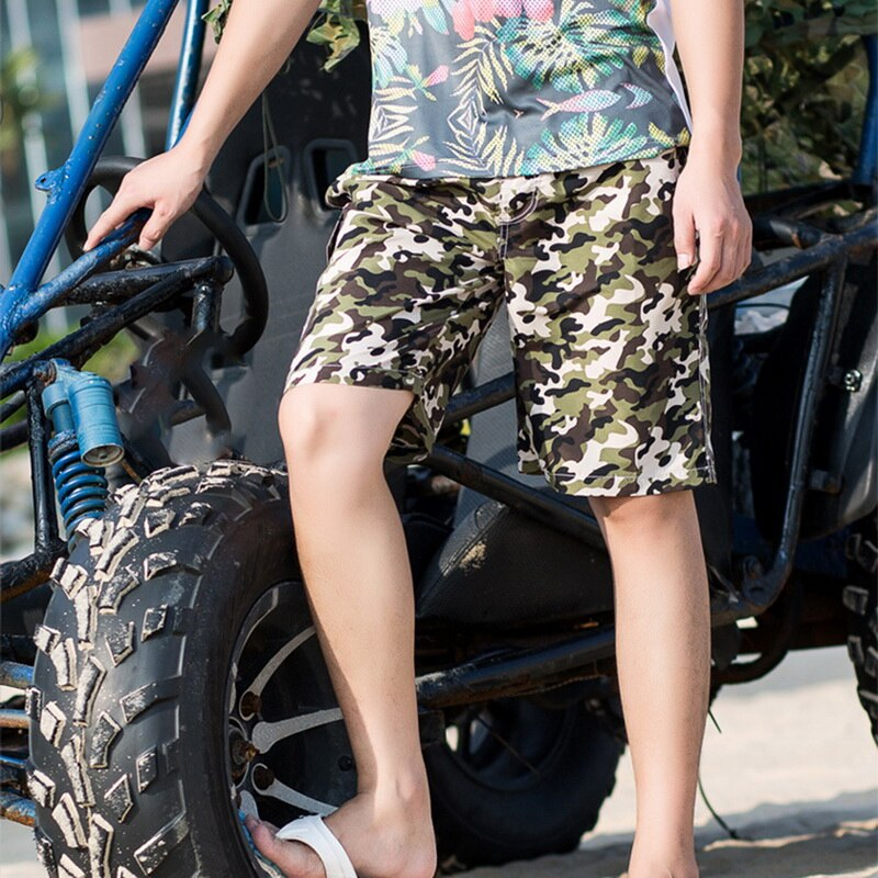 Camouflage Board Shorts Men Sport Summer Plus Size Beach Surf Swim Shorts Male Printed Quick Dry Loose Shorts
