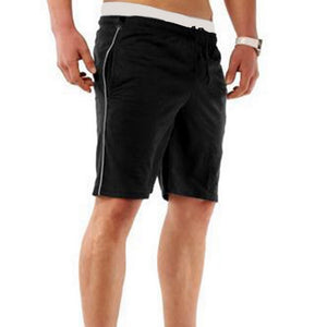 Running Shorts Men Fitness Solid Drawstring Sport Shorts Gym Exercise Loose Fitness Gym Shorts Summer