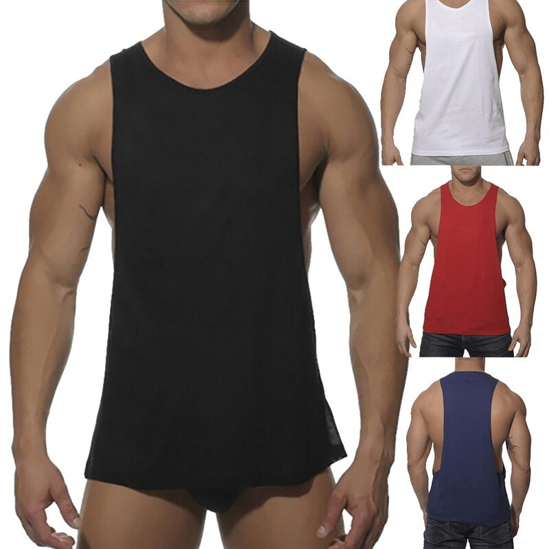 Running Vest Men Sleeveless ONeck Tank Top Loose Quick Dry Trainning Exercise Top Summer Fitness Gym Vests