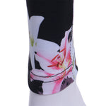 Women Workout Yoga Pants Fitness Flower Print Gym Sports Gauze High Waist Sports Yoga Pants Quick Drying