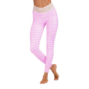 Women Yoga Leggings Printed Hip Leggings Pants Running Yoga Sportswear Pants Fitness Pants High Waist Soft Legging