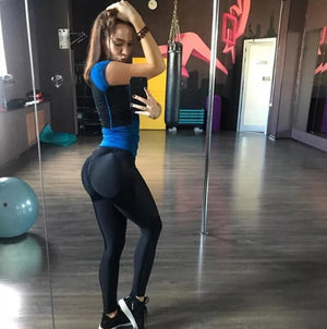 Women Running Leggings Fitness High Waist Yoga Pants Tummy Control Love Peach Hip Workout Pants Sports
