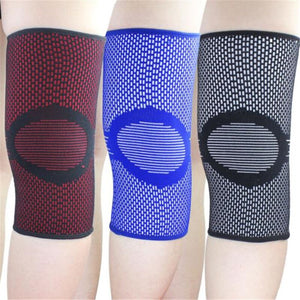 Outdoor Sport Support Knitted Knee Pads Men Warm Support Breathable Long Sleeve Cover Basketball Soccer Protection