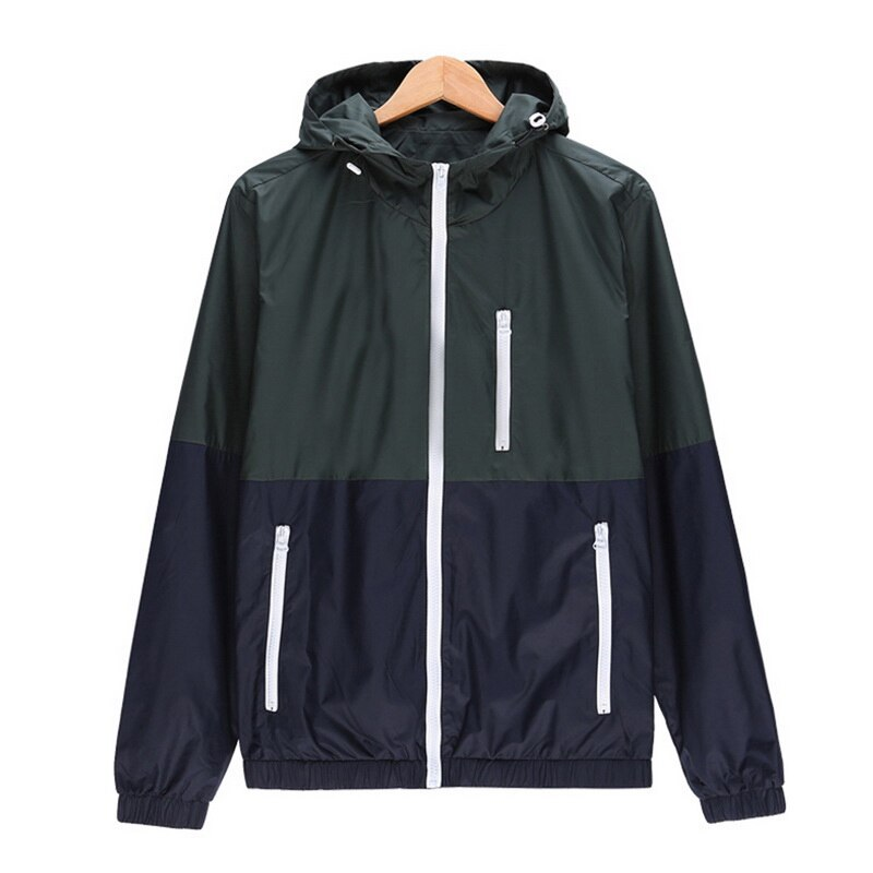 Outdoor Windproof Hiking Jacket Warm Coat Male Stand Collar Zipper Cardigan Stitching Fleece Jacket Outwear