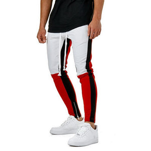 Running Pants Men Street Hit Color Stitching Side Stripes Elastic Men Joggers Sweatpants Patchwork Running Pant