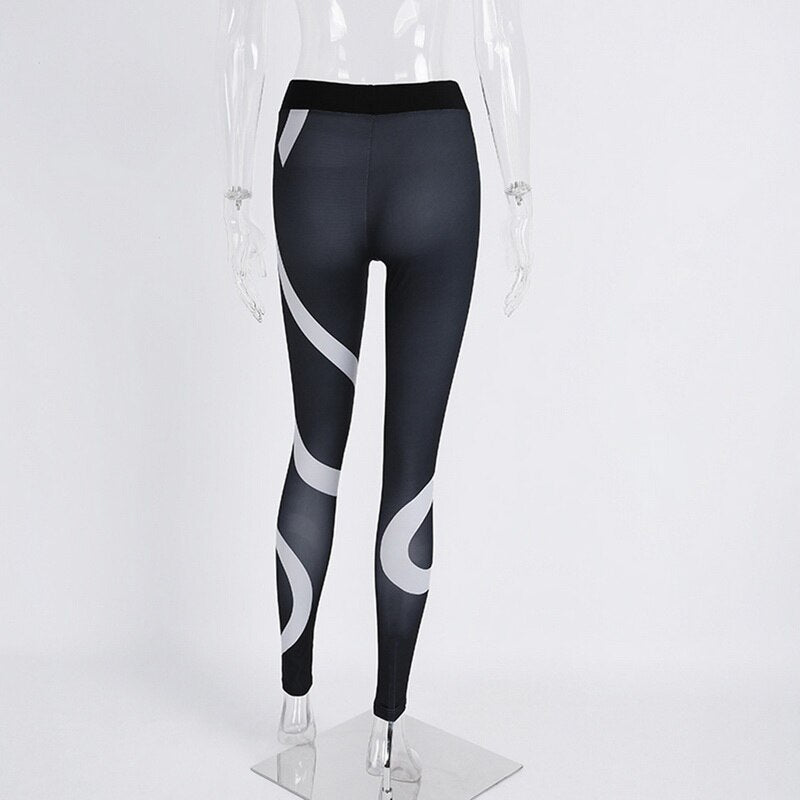 Sport Leggings Women Gym Tights Heart Printed Fitness Yoga Pants Running Slim Jogger Workout Pant Yoga Clothes