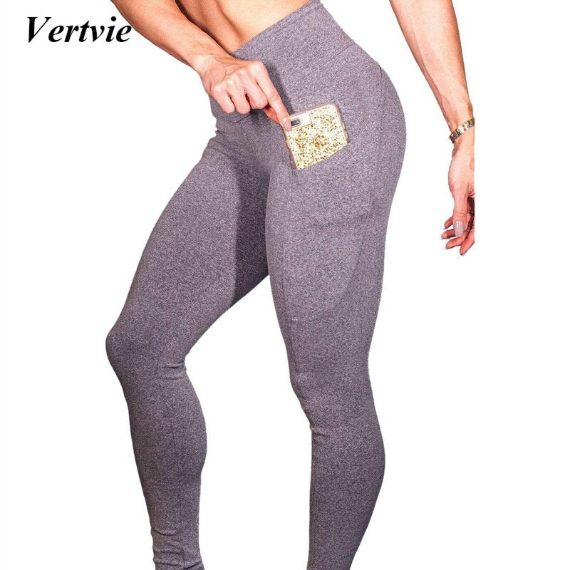 Women Yoga Pants Leggings Leggings Sportswear Pants Fitness Side Mobile Pocket Yoga Pants High Waist Elastic