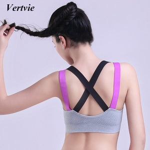 Strap Cross Sport Bra Women Quick Dry Padded Compression Shockproof Yoga Bra Running Fitness Sport Bra Top Vest