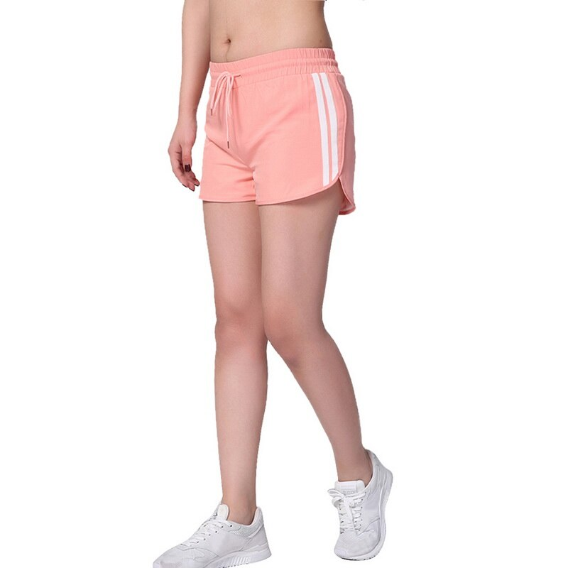Women Running Shorts Yoga Fitness Tights Shorts Gym Sportswear Solid Jogging Fitness Shorts Drawstring Sporting