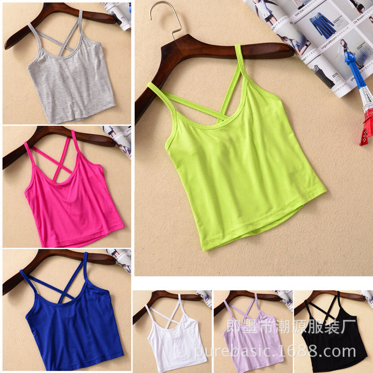 Women Yoga Shirts Y Shaped Vest Tops Yoga Top Solid Running Sport Bra Top Jogging Sleeveless Yoga Shirts