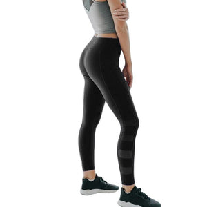 Women'S Yoga Pants Striped Leggings High Waist Hips Yoga Pants Workout Fitness Slim One Side Phone Pocket Woman Trousers