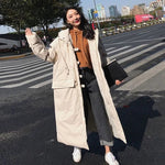Women Hooded Long Parka Winter Thicken Outerwear Casual Plus Size Padded Jacket Warm Wadded Coat Pw38