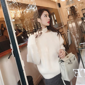 Women Spring Cashmere Sweater Autumn Winter Warm Thicken Turtleneck Wool Pullover Office Knitted Sweater Pw65