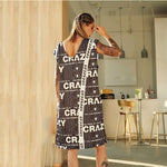 Women Summer Vest Dress Oversize Casual Loose Cotton Patchwork Letters Print Pullover Office Mini Chiffon Dresses Rs152