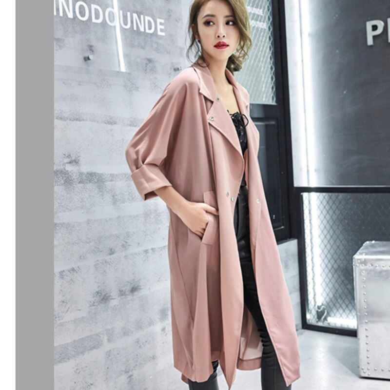 Women Sunproof Chiffon Shirt Spring Summer Sashes Long Cardigan Coat Cover Up Casual Chaquetas Mujer Wyf53