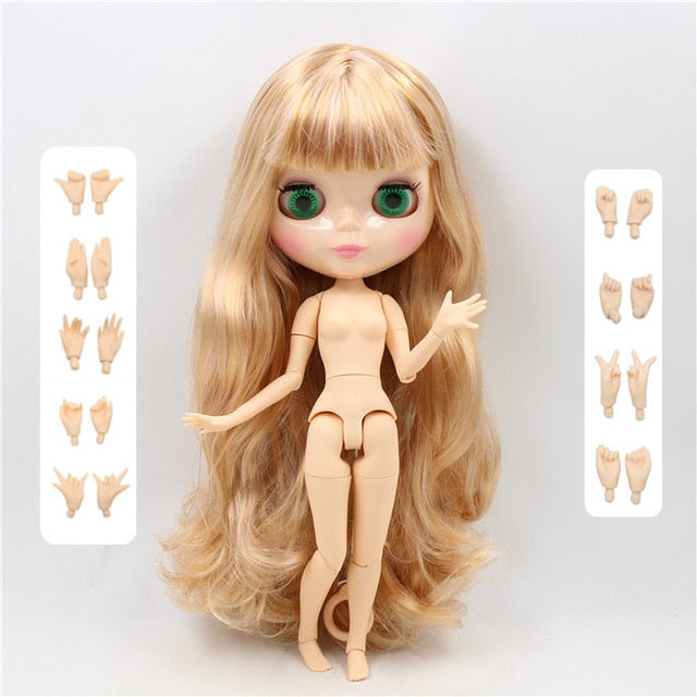 1/6 bjd icy Factory blyth doll white natural tan translucent dark super black 7 skin joiny body 30cm