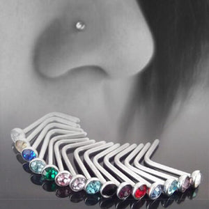 10 pcs Punk Style Piercing Nose Lip Jewelry  Body Jewelry For Man Women Studs 1.8mm Pick Drop Shipping