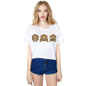 ZSIIBO OCNVTX16 ear printed T-shirts for women tee shirt femme camisetas poleras de mujer tshirt female t shirts female tops