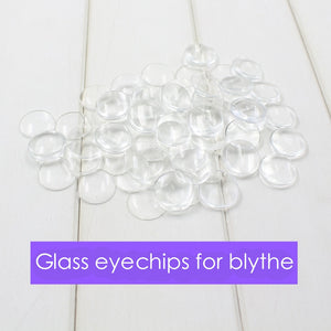 Free shipping only for Blyth doll glass eyechips transparent pupils 14mm DIY patch pupils eyes
