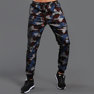 LANTECH Men Pants Running Joggers Training Sports Camouflage Sportswear Fitness Exercise Run Gym Pants Pocket Trousers Zipper