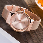 Fashion Rhinestone Women Watches Ladies Dress Crystal Stainless Steel Mesh Quartz Wristwatches Bracelet Clock Montre Femme 2018