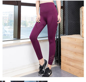 LANTECH Sports Women Running Yoga Pants Sportswear Fitness High Waist Leggings Exercise Gym Compression Tights Pants Trousers