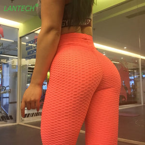 LANTECH Women Gym Pants Sports Running Sportswear Fitness Leggings Run Exercise Yoga Compression Tights Pants Clothes Trousers