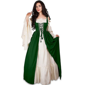 Rosetic Women Dress Vestidos Verano 2019 Bandage Corset Medieval Renaissance Vintage Dresses Square Collar Party Club Elegant