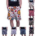 2019 Summer Casual Shorts Men Trousers Male Camouflage Fashion Flowers Print Straight Short Beach Mens Short