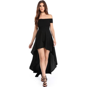 High Low Hem Off Shoulder Maxi Dress