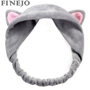 FINEJO Ears Cat Hairband Tools Daily Hair Headbands Party Makeup Hairband Gift Vacation Headdress Cute Cat Ear Accessories Women