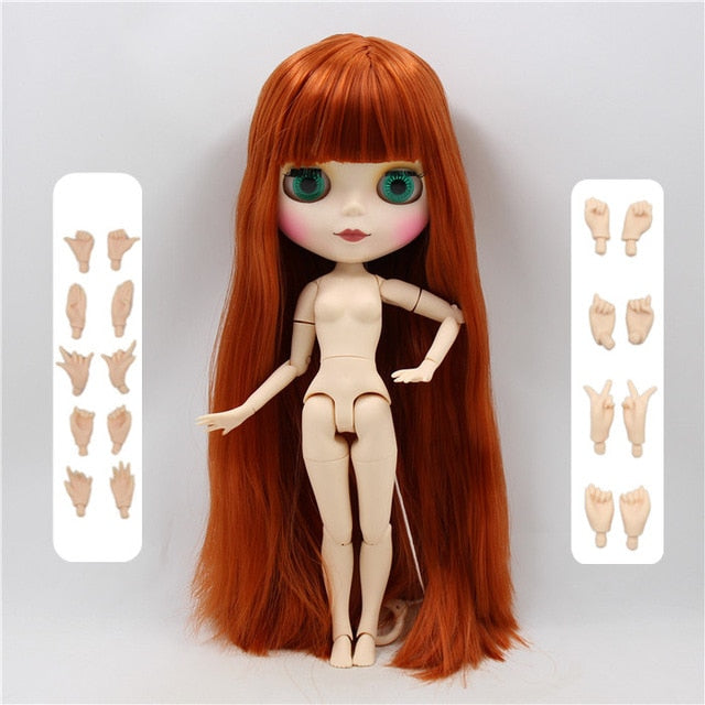 ICY factory blyth doll 1/6 BJD neo 30cm matte faceplate blyth custom joint body with hands AB special offer on sale