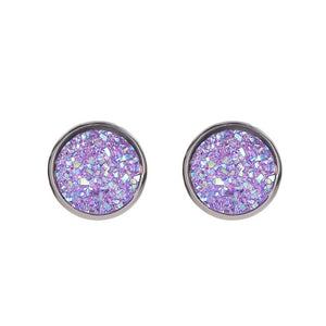 Stainless Steel Starry Sky Stud Earrings 2019 New Fashion Imitation Gem Jewelry Earrings For Women Wholesale Kolczyki Brincos