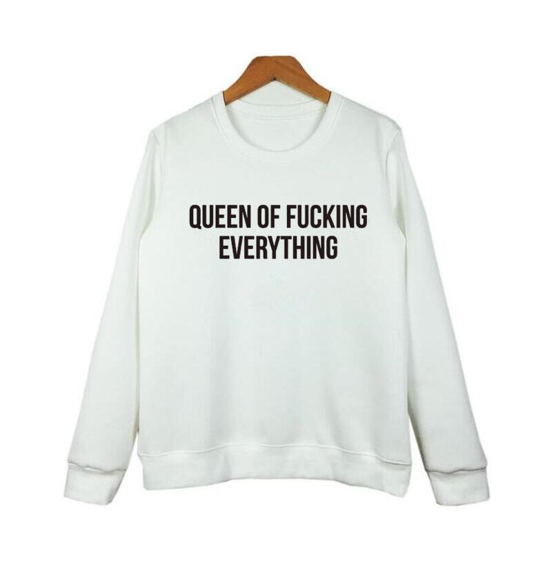 Punk Queen Subs Albums Songs Name Letters Printing Round Neck Hoodies Women Pullover Autumn Harajuku Sweatshirt