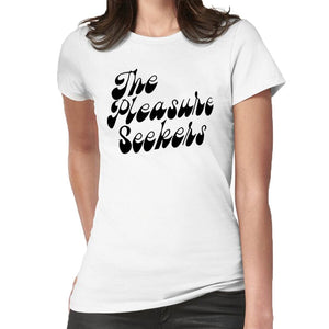 The Pleasure Seekers Women'S Band Tshirt 60S 70S Letters Rock T Shirt Women Harajuku Vintage Inspired Tee Shirt Femme