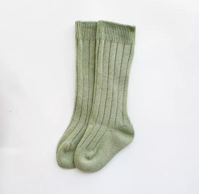 Knee-High Socks - Sage