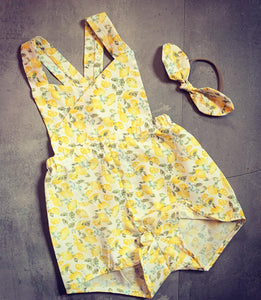 Seasonal Romper - Lemon Clementine